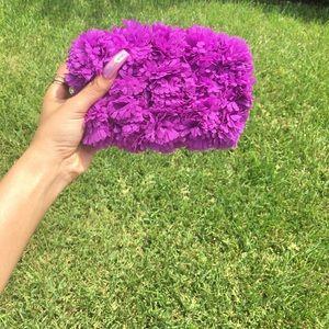 Handbags - 🥺*1 left Handcrafted Purple Flower Clutch 👛